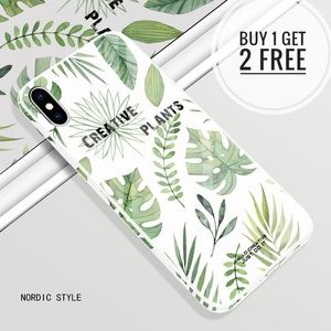 Accessories - Nordic Style Tempered iPhone Phone Case